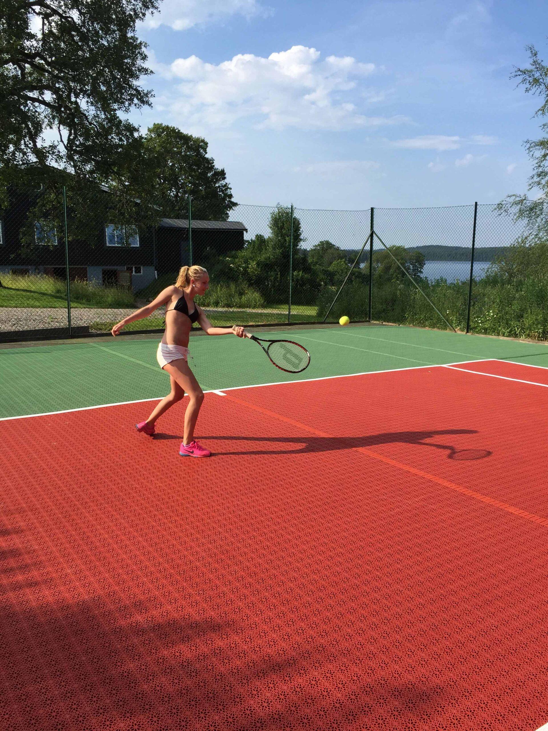Losetas deportivas de exterior tenis c5 10
