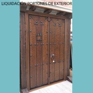 LIQUIDACIÓN PORTONES DE EXTERIOR