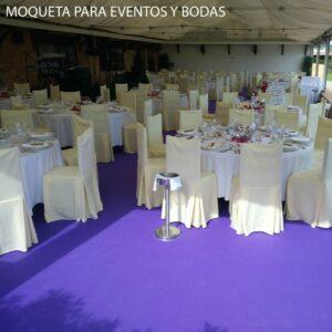 Moqueta para eventos y bodas