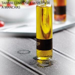 Tarima composite resistente a manchas