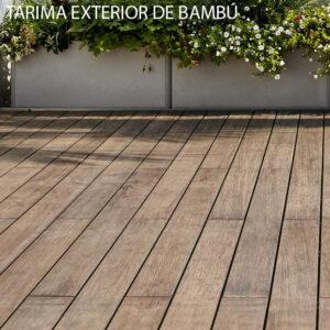 Tarima exterior de Bambú