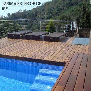 Tarima exterior en madera de IPE