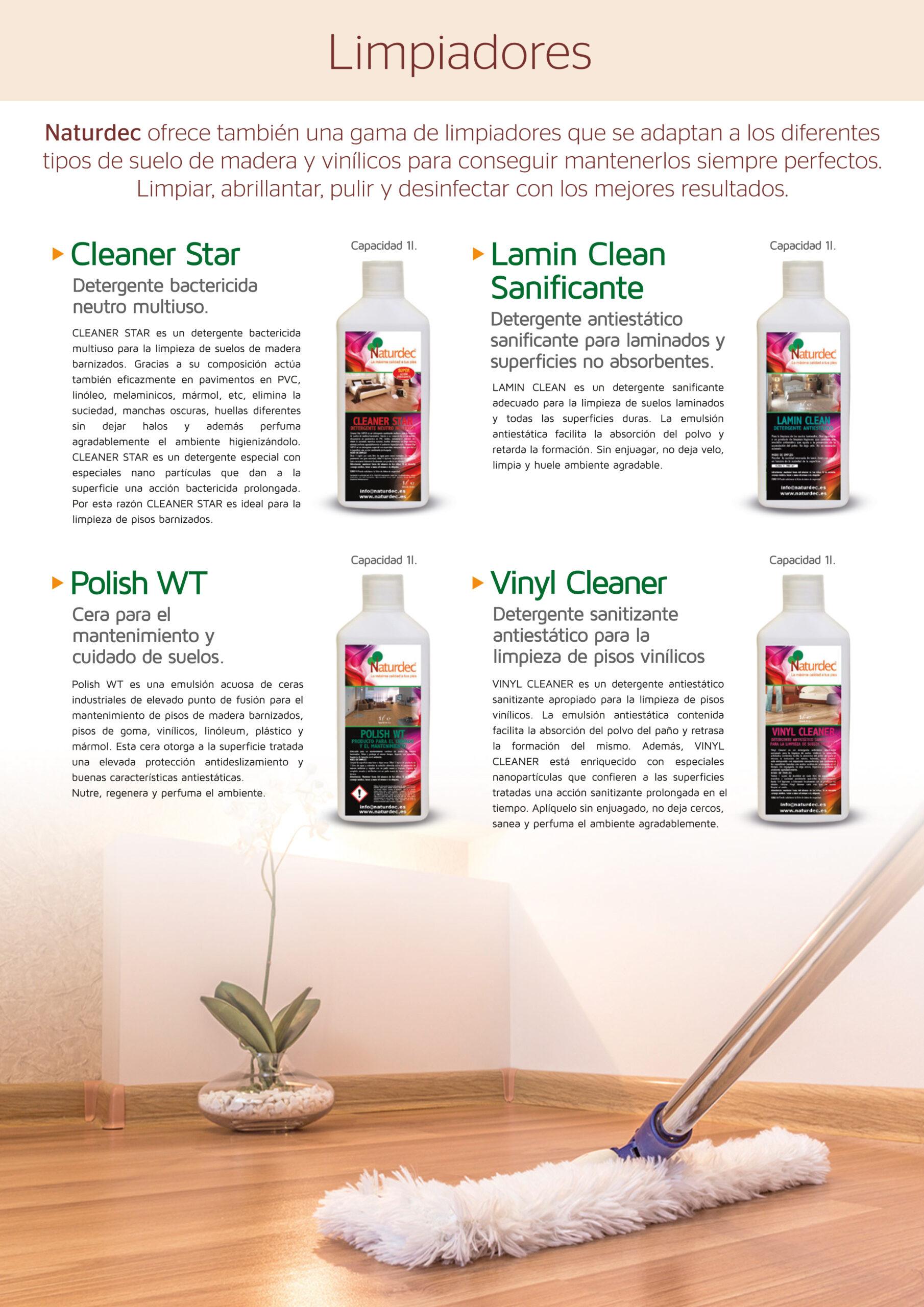 Para mantener como nueva tu tarima de madera, Naturdec dispone de productos específicos altamente eficaces.